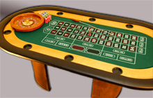 Deluxe Roulette Table top view